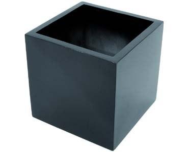 Blumenkübel Kunststoff, schwarz glänzend, quadratische Form mit Höhe und Durch. von ca. 50cm
