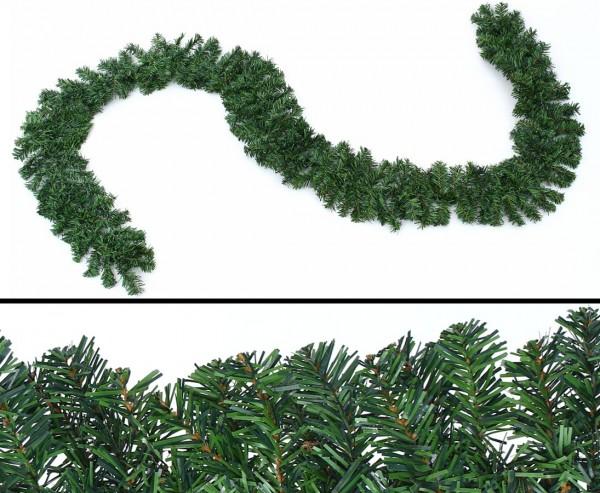 Tannengirlande künstlich und günstig, natur grün mit 270cm