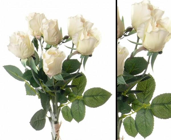 Rosenstrauss Gina, mit 6 Blüten, creme farbig, Durchmesser ca. 15cm, Höhe ca. 38cm