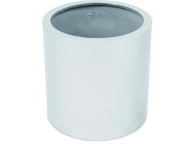 Pflanzkübel silber glänzend, aus PE Material leicht mit ca. 5,30kg, Höhe 50cm