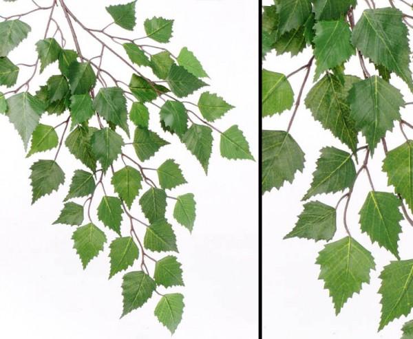 Birken Dekozweig mit 48 Blätter, Länge 64cm