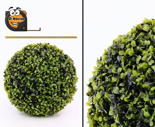 Künstlicher Buchsball Groß mit 80cm UV sicher, Kern aus formstabiler EPS Masse