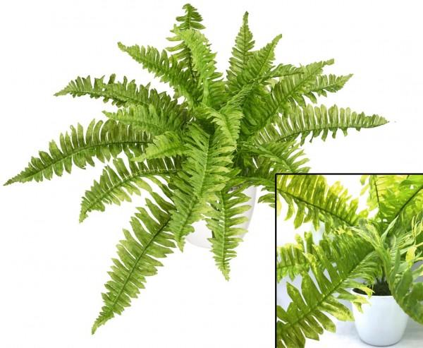 Kunstpflanze Boston Farn 60cm im Topf mit 16 Blättern