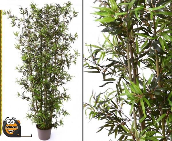 Gigantische Bambus Kunstpflanze mit 350cm und 2592 Blätter UV geschützt