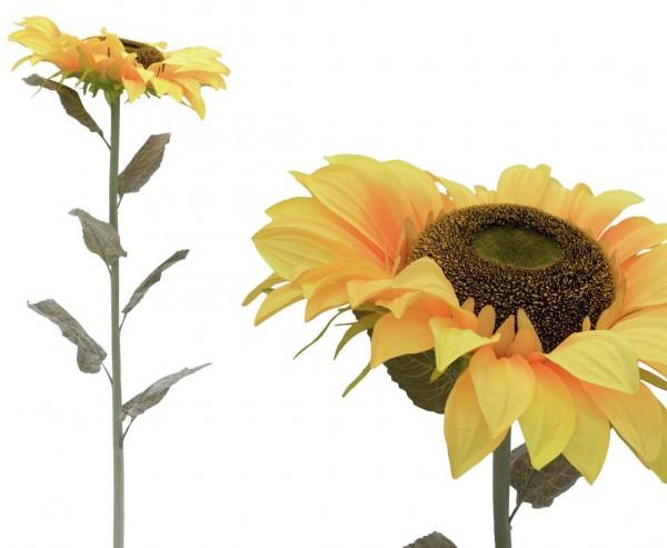 Künstliche Sonnenblume XL mit 136cm hoch, 40cm breiten Blütenkopf