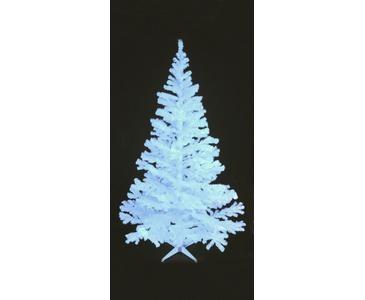 Tannenbaum glitzerweiß,UV aktiv mit 1114 Nadeln inkl.Ständer 240cm hoch