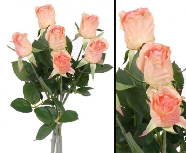 Rosenstrauss Gina mit 6 Blüten in rose, Durchmesser 15cm, Höhe ca. 38cm