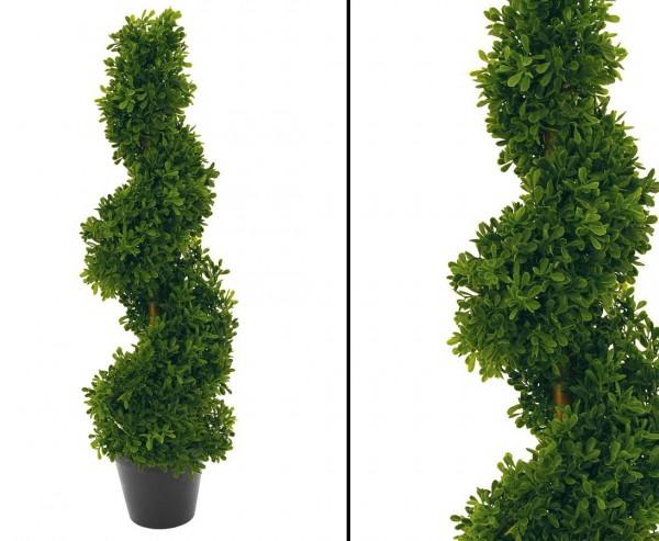 Spiral Kunstbaum mit 452 Lorbeer Blätter 61cm hoch