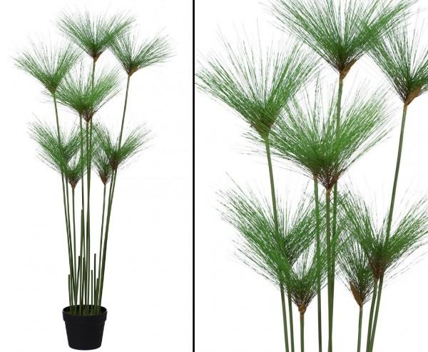 Papyrus- Cypern Gras Kunstpflanze mit 9 Stauden Höhe ca. 110cm