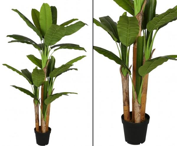 Bananen Kunstbaum 190cm mit 4 Stämmen und 28 Blätter