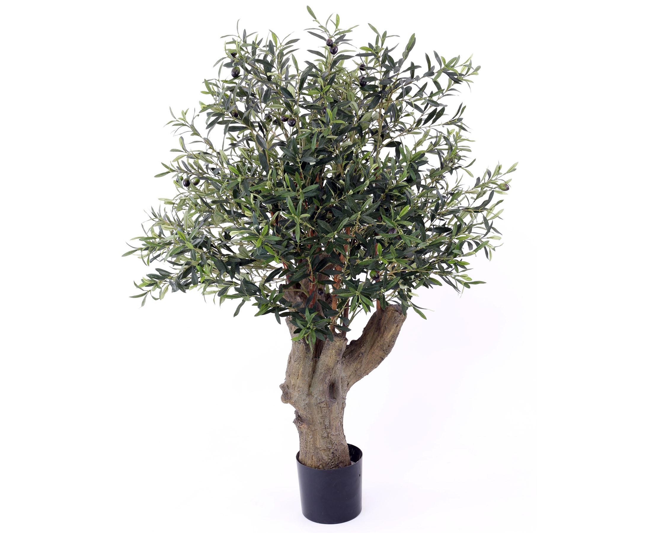 Künstlicher Olivenbaum mit dickem Stamm Höhe ca  140cm