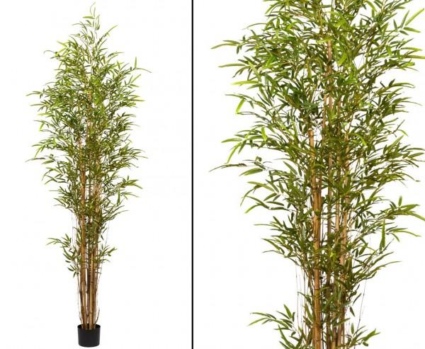 Künstlicher Bambus Baum 220cm mit ca. 2430 Blätter und echten Tonkin Rohren