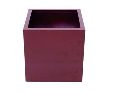 Blumenkübel Kunststoff, rot glänzend, quadratische Form mit Höhe und Durch. von ca. 50cm